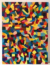 "Nuevo Excelente periferia vilke Original ""Untitled"" Lituania Pintura Abstracta Folk Art"