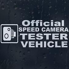 Oficial velocidad Cámara vehículo coche Parabrisas Panel del cuerpo de la calcomanía pegatina de vinilo