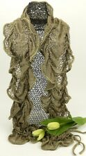 Taupe Lace Bounce Ruffle Scarf - 80527atn
