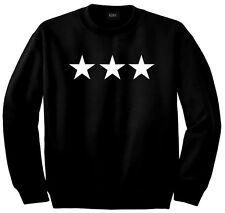 Kings of NY 3 Stars Military Style Street Long Sleeve 50/50 Crewneck Sweatshirt