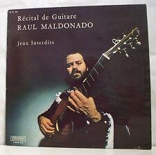 "33 tours RAUL MALDONADO LP 12"" RECITAL DE GUITARE JEUX INTERDITS - MUSIDISC 1076"