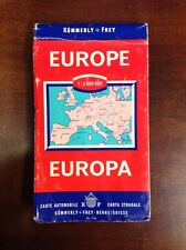 "Vintage Kummerly & Frey Europa Map For Automobile 56"" x 36"" Size"