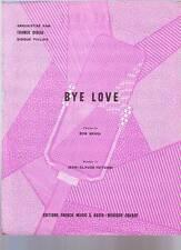 partition FRANCK DIDIER  bye love