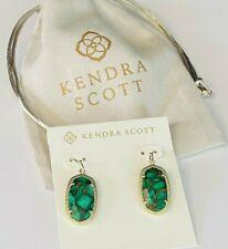Kendra Scott  Earrings Gold/Green Tone