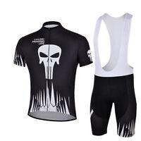 Men's Cycling Bike Short Sleeve Clothing Bicycle Biking Jersey (Bib) Shorts Kit