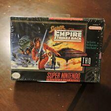 Super Empire Strikes Back Super NES Super Nintendo SNES New Factory Sealed Game
