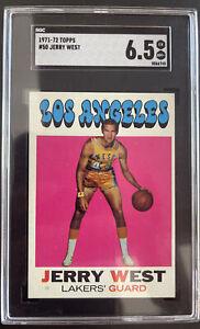 1971 Topps, #50, HOF Jerry West, Los Angeles Lakers SGC 6.5 EX/NM+