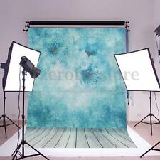 Kids Blue Flower Photography Backdrop Huge Wall Art Silk Poster Photo Background