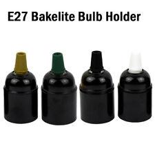Vintage Industrial Bakelite Lamp Light Bulb Holder Retro Edison ES E27 Fitting
