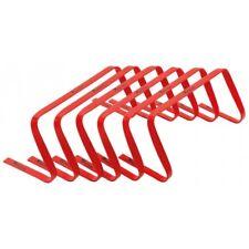 Precision 9inch High Flat Hurdles Set Red ( Set of 6 )