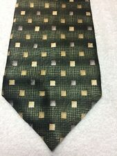 CARLOS DEVENEZIA MENS TIE GREEN WITH SILVER AND GOLD 3.75 X 61