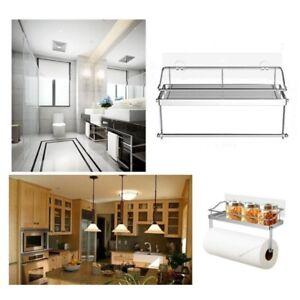 Adhesive Shelf Basket Holder Storage Rack Organizer Holders For Kitchen Bathroom