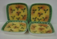 "Sango SWEET SHOPPE CHRISTMAS 5"" Hors D'Oeuvres Dish SET OF FOUR BEST"