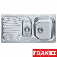 FRANKE MIKADO DOUBLE 1.5 BOWL DRAINER & WASTE STAINLESS STEEL KITCHEN SINK INSET