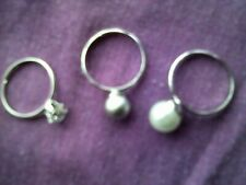 Avon 'Lovely Stackable Ring' Set Of Three Rings Size Large And Adjustable