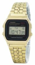 Casio Digital Alarm Chrono Stainless Steel A159WGEA-1DF A159WGEA-1 Womens Watch