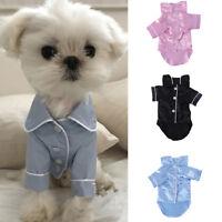 Pet Soft Pajama Fashion Clothing For Small Medium Dog Coat Jacket Cute Clothes