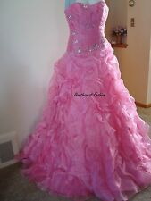Pink Prom Dress Size 6 by Forever Yours MSRP $629 NWT Cotillion Quinceanera