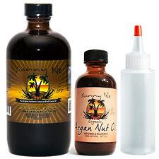 Jamaican Black Castor Oil Extra Dark 8oz/ Organic Argan Nut Oil 4oz Applicator