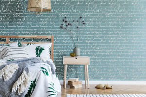 Letter Stencil Handwriting Script Allover Pattern Wall Furniture Reusable HW1