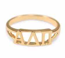 Alpha Delta Pi sunshine gold ring with cut-out letters, NEW!!***