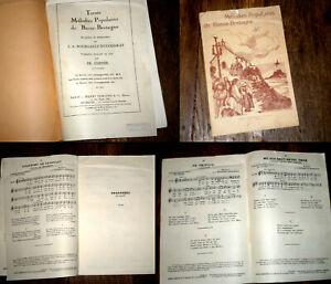 recueil de mélodies populaires de Basse-Bretagne 1931 Bourgault-Ducoudray