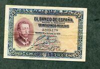BILLETE 25   PESETAS 1926    sin SERIE 2800178  EBC -