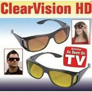 ClearVision HD Wraparound Sunglasses with Visor Clip 100% UV Potection