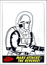 Mars Attacks: The Revenge! Topps Soldier Sketch Card by Kelly Greider 1/1