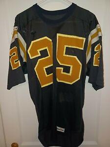 Vintage Spanjan Black Gold #25 Large Football Jersey pro cut
