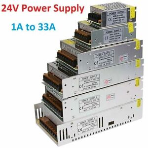 Regulated Universal DC 24V Switching Power Supply Transformer Adapter LED 1A-33A
