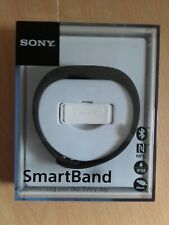 Sony Black SWR-10 SmartBand Fitness Tracker Step Counter, Android + Spare Band