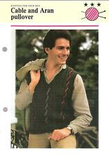 Mens Knitting Pattern - Knitting for Your Men - Cable and Aran pullover - 4 ply