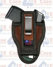 KAHR CM9 IWB LEATHER TUCK-ABLE CONCEALED CARRY HOLSTER **100% MADE IN U.S.A.**