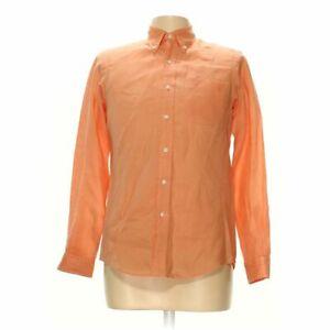 Ralph Lauren Men's Button-down Long Sleeve Shirt size S,  orange,  linen
