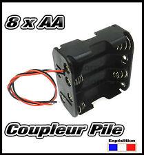 997B# coupleur pour 8 x piles AA R6, R06, LR6, LR06 bloc coupleur pile - boitier