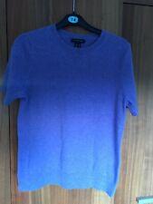 Landsend purple short sleeved cashmere jumper 8
