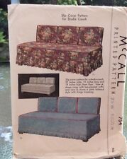 UNCUT Vintage 1940 STUDIO COUCH SLIP COVER & CUSHION Sewing Pattern