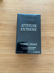 ARMANI Attitude Extreme 50ml RARE For Men Brand New Sealed box Made in France