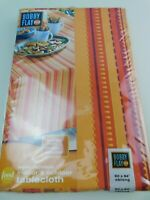 """Bobby Flay Oblong 60""""X84"""" Sangria Serape Indoor/Outdoor Tablecloth- Retired"""