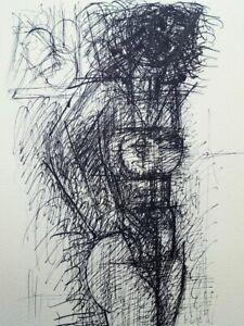 Marcel GROMAIRE : Femme brune nue debout - GRAVURE en noir #1952 + Certificat