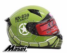 Masei 850 Green Zaku DOT & ECE Full Face Motorcycle Bike Helmet Gundam HJC ARAI
