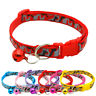 Pet Cat Dog Collar with Bell Camouflage Neck Strap Polyester Adjustable Band H7