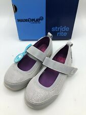 Stride Rite Tilly Silver Toddler Girls Size 9.5 -Brand New!