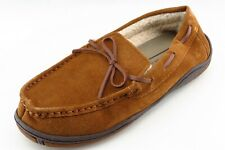 Rockport Size 9 Medium (D, M) Brown Moccasin Slippers Leather Men Shoes