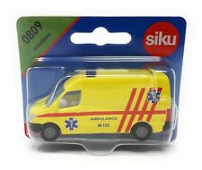 Siku Czech Edition #0809 Ambulance Van yellow blister card Rare