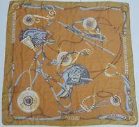 foulard carré scarf pollini 100% silk pura seta original made in italy vintage