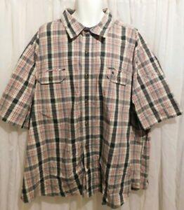 Carhartt Men's size 4XL Relaxed Fit Plaid Button Front SHIRT w/Pockets XXXXL