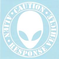 Caution, Alien Response Vehicle Car Truck Suv vinyl Window sticker decal