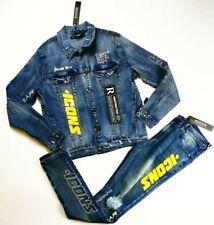 Hudson Mens 100%authentic 2p set denim jacket large & jeans size 32 blue